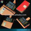 made in china fashionable wallet design PU cover case for apple iphone 4