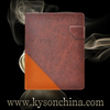 Brown leather case for ipad air, folio leather case for ipad 5