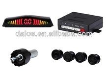 Car visible mirror parking sensor with LED night vision rear camera and 4pcs sensor detecter