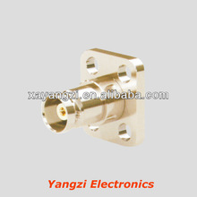 BNC,female,clamp,straight,4 holes flange connector