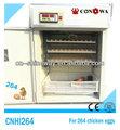 كامل تلقائي آلة تفريخ الدجاج/ 264 بيض الدجاج حاضنة للبيض cnhi264