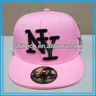 Wholesale Fashion Hot Sale Black NY 3D Embroidery New York 58cm Full Pink Girl Peak Summer Bill Snapback Flat Caps and hat