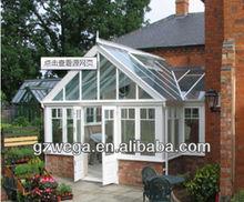 New design ! top grade aluminum tempered glass garden sun rooms