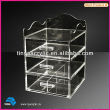 2014 Exquisite Clear Acrylic Cosmetic Organizers