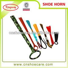 2015 new design hot sale colorful shoe horn cheap shoe horns