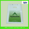 printed plastic die cut bags/pvc bag/flat bag with wicket china manufacturer