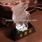 Carving crystal eagle figurines