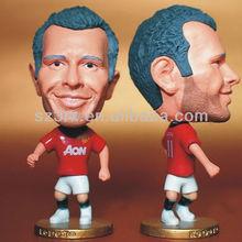 Promotion 3D football action figures; custom plastic action figures;football player action figures toys
