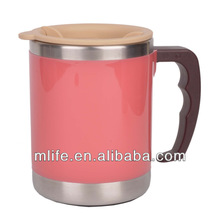 wholesale food grade leakproof travel mug with handle