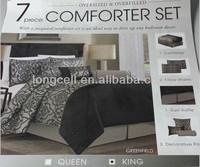 Classical Jacquard design 7 pieces Comforter Set in 4 colors