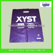 HDPE,LDPE Wave top die cut bags/flat bag with logo