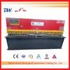 QC12K series hydraulic shearing machine , 12mm thickness iron cutting machine , 2500mm length plate shearer machinery