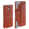 Waterproof wallet leather flip phone case for samsung and other mobile phone