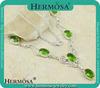 Silver 925 Top Fashion Green Topaz Women Elegant Necklace Q9838