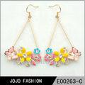 colorato oro fiore orecchino penzolare donne orecchini disegni foto