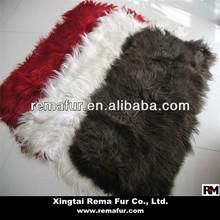 Fashion 15cm Up Long Hair Goat Fur Kidassia Plates For Floor Carpet