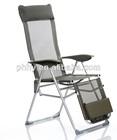 ajustable aluminum lounge folding chair with footrest sun lounge