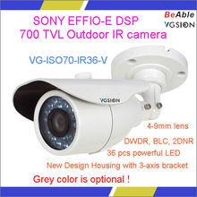 Sony 700 TVL Waterproof Outdoor IR CCTV bullet camera Case for Housing