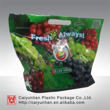 Custom printed Plastic fresh vegetable bag/ fresh fruit pouch with ziplock