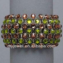 Exaggerating Design Fine Strips Engraving Rivets Bangle - Golden stretched bracelet