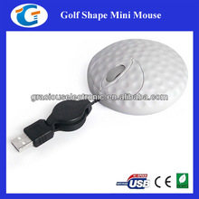 Novelty golf shape wired mini mouse