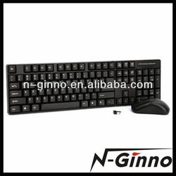 Shenzhen factory supply 2.4G wireless keyboard mouse combo