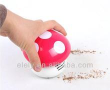 Mini battery operated mushroom keyboard vacuum cleaner