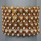Elegant Rhinestoned Inlaid Square Circle Combination Bangle - Silver plastic buckle survival bracelet