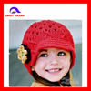 Children Pointelle Knitted hats with flower