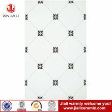 25*40 natural fashion design flower decor black and white ceramic tiles