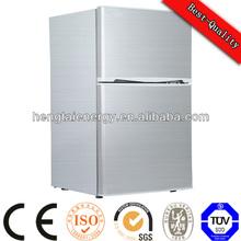 used supermarket double door refrigerator dimensions solar freezer fridge