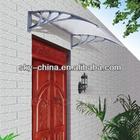 Outdoor Polycarbonate waterproof Metal Frame Window Canopy