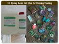 3:1 broncedoming claro de la resina de epoxy para llavero