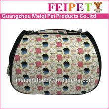 Cool apple pattern cute pet carrier pink