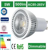 3 years warranty 230v 50mm dimmable reflektor led smd gu10 5w