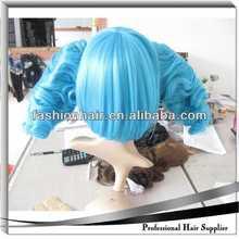 wholesale cosplay wig blonde human half wig