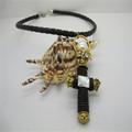 2014 moda pulseira cordão de couro/crânio pingente colar/jóia da forma
