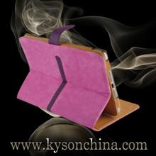 Shiny pu leather case for ipad mini 2, leather stand flip case for ipad mini 2 retina