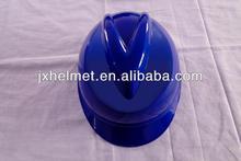 blue construction helmets