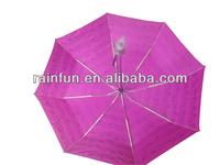 21'' X 8K Fancy full note printing aluminium 3 fold umbrella girl umbrella