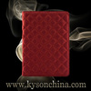 Book style quilted grain red case for ipad mini