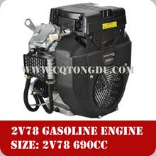 Powerful engine 2V78F, OHV V-twin cylinder 22hp petrol engine