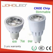 CREE CRI 80 dimmerabile illuminazione a led 8w faretti led gu10 cob 6w faretto led gu10 9w 30D beam angle