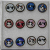 Newest design Bronze Plated Fashion Cats and Fish epoxy sticker Stud Earring