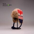 trapper jacquard fake fur winter hat