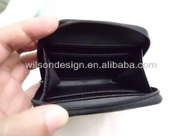 black PU card case and coin wallet