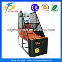 guangzhou coin operated Standard Basketball Machine arcade basketball