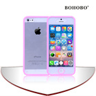 BOHOBO high quality transparent TPU cover with pc bumper for iphone5s,cases accept small mix order for iphone 5 case