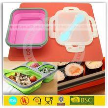 FDA LFGB SGS food grade silicone lunch box