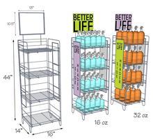 Metal Retail Shop Floor Display Rack Display Stand For Bottles Beverages